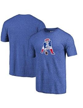 New England Patriots Fanatics Branded Throwback Logo Tri Blend T Shirt   Royal by Nfl Pro Line By Fanatics Branded