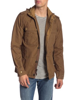 Paxton Military Jacket W/ Packable Hoodie by Jeremiah
