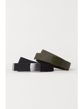 2 Pack Fabric Belts by H&M