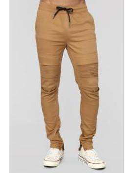 Solution Joggers   Khaki by Fashion Nova