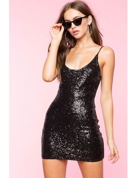 Alyssa Sequin Bodycon Dress by A'gaci