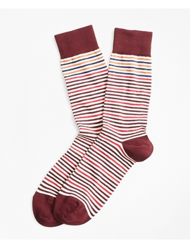 Striped Crew Socks by Brooks Brothers