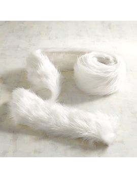 White Faux Fur 6' Garland by Pier1 Imports