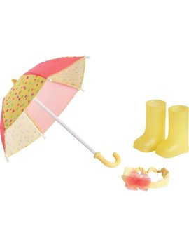 My Life As Rainy Day   Doll Accessories   Umbrella, Rain Boots, And Headband by My Life As