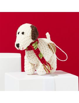 Crochet Dog Ornament by Crate&Barrel