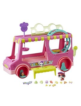 Littlest Pet Shop Tr'eats Truck Playset Toy, Rolling Wheels, Adult Assembly Required (No Tools Needed), Ages 4 And Up by Littlest Pet Shop