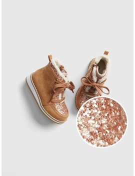 Glitter Sherpa Ankle Boots by Gap