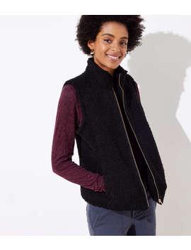 Petite Plush Vest by Loft