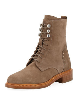 Ali Suede Lace Up Combat Boots by Aquatalia