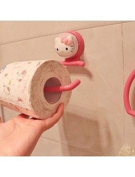 Hello Kitty Strength Seamless Suction Wall Hanger Suction Towel Storage Rack Holder Rack Bathroom Kitchen Tools 5 D by Ali Express