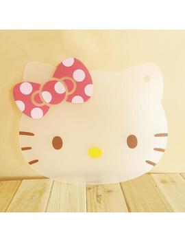 Super Cute Kitchen Cooking Tools Flexible Plastic Cutting Board Hello Kitty Slim Cut Fruit Cutting Board Can Be Bent  31*24cm by Ali Express