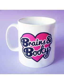 Brains & Booty 10oz Ceramic Mug by Etsy