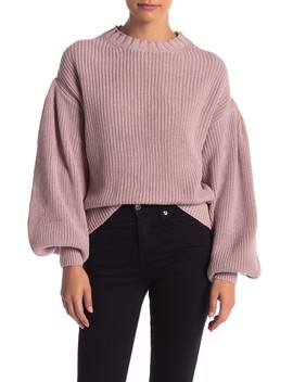 Balloon Sleeve Sweater by Mustard Seed