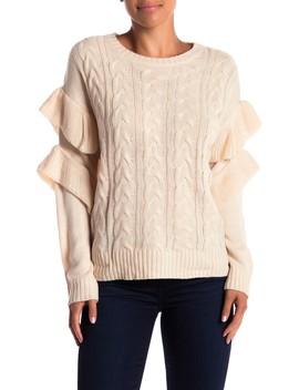 Cable Knit Layered Long Sleeve Sweater by A.Calin