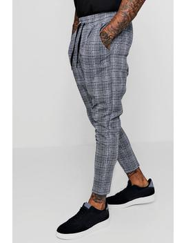 Smart Checked Jogger Trouser by Boohoo Man