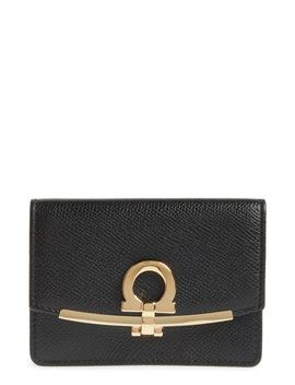 Icona Leather Card Case by Salvatore Ferragamo