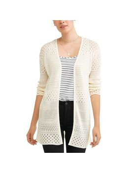 Women's Pointelle Cardigan by Time And Tru