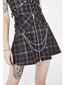 Nancy Pleated Mini Skirt by Killstar