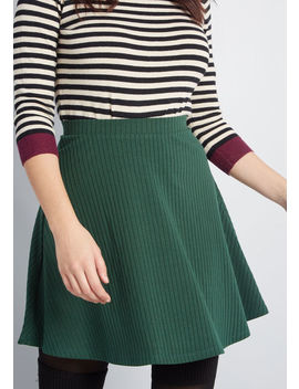 Simplistic Partnership Knit Mini Skirt by Modcloth
