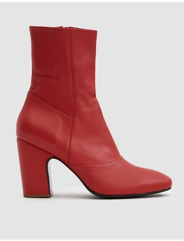Saco Ankle Boot In Red by Rachel Comey