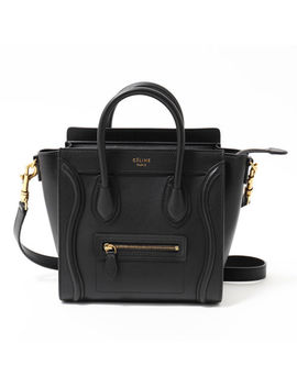 Celine 168243 Hsc 16824 3 Hsc Luggage Nano Remov Hand Shoulder Bag Black by Celine