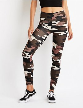 Camo High Waist Leggings by Charlotte Russe