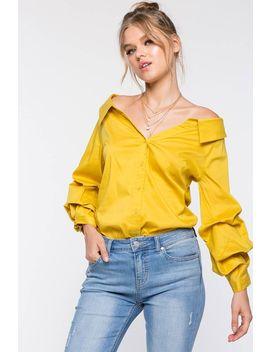 Jenny Ruffle Collar Shirt by A'gaci
