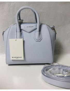 $1790 Givenchy Auth Nwt Baby Blue Goat Grained Leather Antigona Mini Duffel Bag by Givenchy