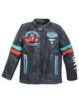 Lightning Mc Queen Faux Leather Jacket For Boys by Disney