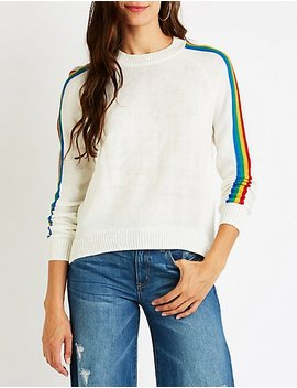 Rainbow Striped Sweater by Charlotte Russe