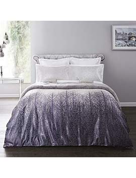 5 A Fifth Avenue Silver Winter Trees Duvet Cover And Pillowcase Set by Dunelm