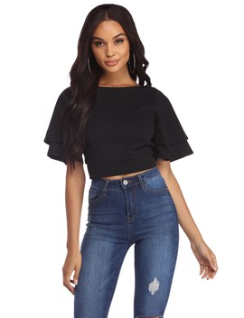 No Tiers Left Behind Crop Top by Windsor