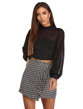 Stay Focused Cropped Blouse by Windsor
