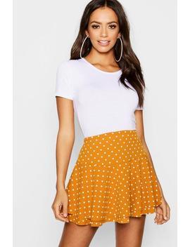 Polka Dot Double Layer Ruffle Shorts by Boohoo