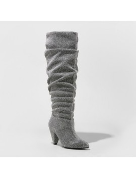 Women's Marley Sparkle Slouch Fashion Boots   A New Day™ Silver by A New Day™