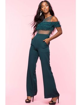 Audria Ruffle Jumpsuit by A'gaci