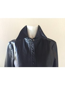 Parallel Black Soft Leather Shirt Jacket by Etsy