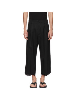 Black High Waisted Trousers by Sulvam