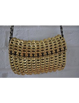 Metal Mesh Purse Gold Made Of Can Latches by Etsy