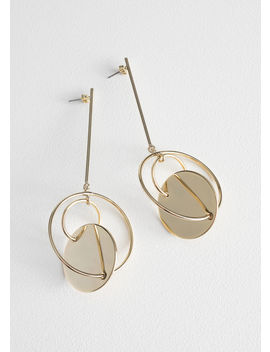 Disc Hoop Hanging Earrings by & Other Stories