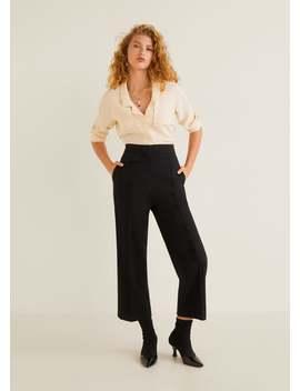 Расклешенные брюки с защипами by Mango