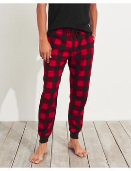 Plaid Flannel Jogger Pants by Hollister