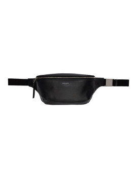 Black Leather Bum Bag by Saint Laurent