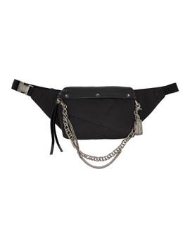 Black Chain Belt Bag by Faith Connexion
