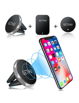 Getihu Car Phone Holder Magnetic Air Vent Mount Mobile Smartphone Stand Magnet Support Cell In Car Gps For I Phone Xs Max Samsung by Getihu
