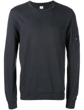 Crew Neck Sleeve Pocket Sweatshirt by Cp Company