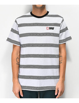 huf-x-spitfire-striped-white-knit-t-shirt by huf