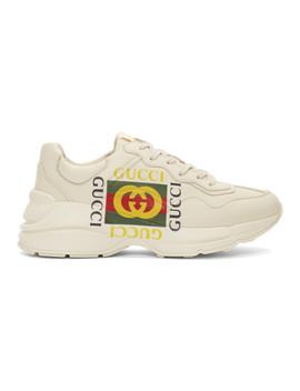 Off White Box Logo Ryhton Sneakers by Gucci