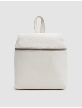 Pebble Leather Small Backpack In Off White by Kara