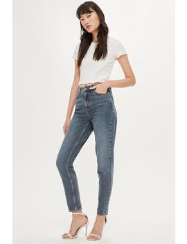 Grey Cast Mom Jeans by Topshop